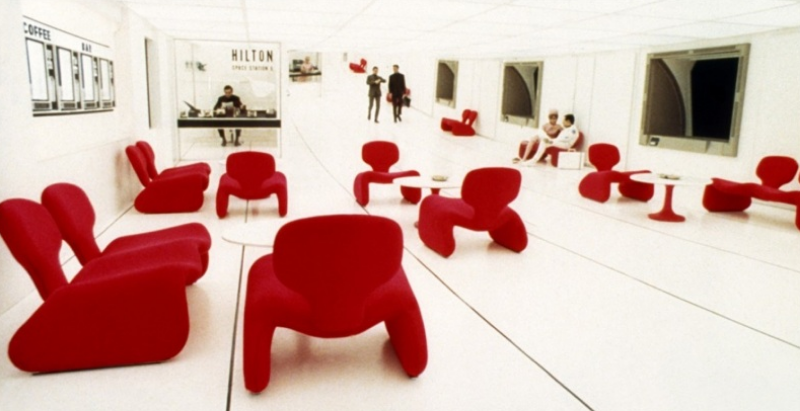 Djinn furniture Oliver Mourgue 1965 in 2001 a Space Odyssey by Stanley Kubrick