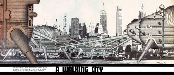 A Walking City, Ron Herron, Archigram, 1964