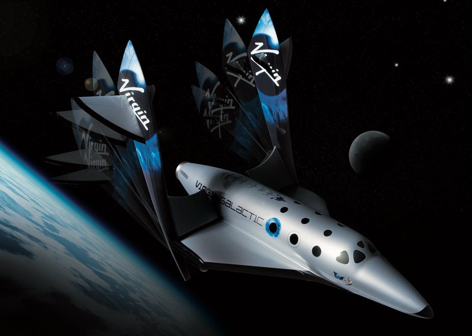 Virgin Galactic spaceship two Feather